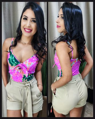 Body Floral Rosa Neon