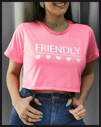 Cropped Rosa Neon Friendly